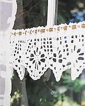 This edging pattern is available for free/ if the top was made longer, it could be turned into a simple shift, top, etc