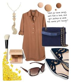 """""""Untitled #146"""" by mary-thor ❤ liked on Polyvore featuring United by Blue, Federation, Bobbi Brown Cosmetics, Big Buddha, White House Black Market, Lumière and Tory Burch"""