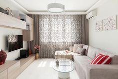 Современная гостиная 12 метров в светлых тонах : фото