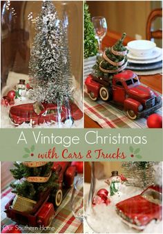 Southern Christmas Home Tour Part 1 - Our Southern Home Christmas Truck, Christmas Toys, Christmas Projects, All Things Christmas, Christmas Holidays, Christmas Ideas, Holiday Ideas, Celebrating Christmas, Merry Christmas