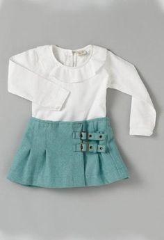 Falda de paño Azul-Faldas bebé-KuiniCollection