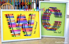 Creative Mommas: Crayon Monograms