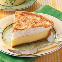 vanilla custard pie with meringue topping - watch this carefully as you cook the custard ... I burnt mine and then it separated and was just a huge mess .... but it still tasted good :)
