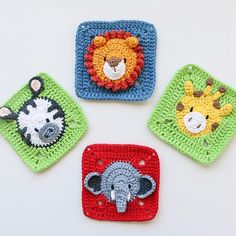 They're beautiful, aren't they? These are Catie's designs, the talented You can find this amazing pieces and… Bobble Crochet, Crochet Baby Toys, Crochet Motifs, Granny Square Crochet Pattern, Crochet Squares, Crochet Home, Baby Blanket Crochet, Crochet Animals, Crochet Stitches