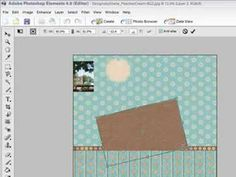 Photoshop Elements - Make Digital Scrapbooking Page Layouts tutorial