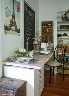 Sewing Table and other craft room storage ideas
