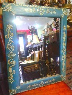 Marco para espejo decorado estilo hindu