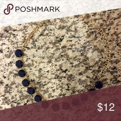 Francesca's Gold & Navy Necklace Gold and Navy Necklace from Francesca's, bought it for a sorority event never wore it again, adds cuteness and class to any outfit casual or formal Francesca's Collections Jewelry Necklaces