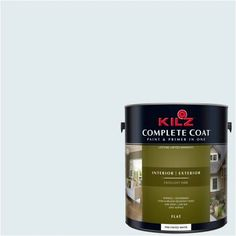 Kilz Complete Coat Interior/Exterior Paint & Primer in One, #RE190-01 Morning Hush, Multicolor