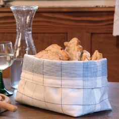 Brotbeutel aus einem Geschirrtuch