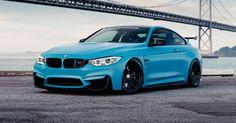 Frozen Yas Marina Blue BMW M4 Is The Ultimate Smurf #BMW #BMW_M
