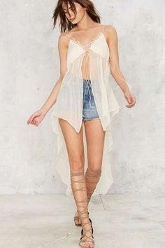 Nasty Gal Catch My Drift Maxi Top - Sale: Clothes