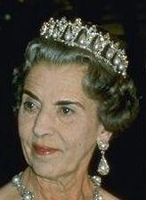 Queen Ingrid of Denmark inherited the Pearl Poire Tiara when she became Queen Consort in 1947