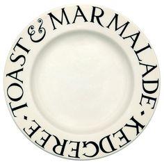 """""""Black Toast"""" Black Toast 8 1/2"""" Plate at Emma Bridgewater"""