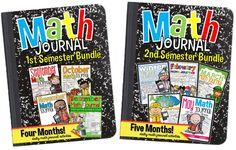 Math Centers For First Grade - Tunstall's Teaching Tidbits, math journals, august math journal, september math journal, Math Strategies, Math Resources, Math Activities, School Resources, Math Games, Math Classroom, Kindergarten Math, Teaching Math, Maths