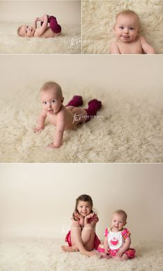 six month old baby girl portrait session