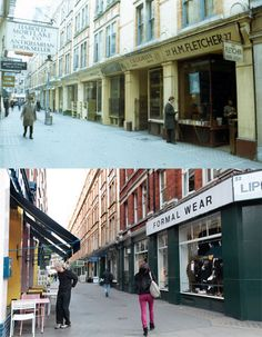 Bookshop mecca Cecil Court from 1973 and in 2012 - just downstairs from Quadrille Towers!