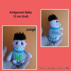 Gratis Amigurumi Häkelanleitung Mini Baby in 2 Teile Kostenlos
