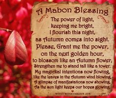 Mabon, Samhain, Wiccan Spell Book, Wiccan Spells, Magick, Green Witchcraft, Witch Spell, Autumnal Equinox Celebration, Autumn Equinox Ritual