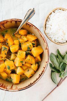 Recipe: Butternut Squash in Fresh Green Curry