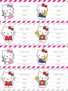 Etiquetas escolares Hello Kitty para imprimir gratis - Imagui                                                                                                                                                                                 Más
