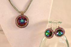 Collar Rivoli Beadwoven cristal swarovski y CloesCloset Por