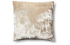 washed silk velvet 22x22 throw pillow
