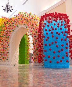 Dorothée Selz   Sculptures   French Institute / Hôtel El Prado...edible!