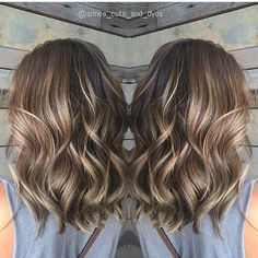 Shoulder length Balayage Hairstyles