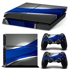 Ps4 Playstation 4 Console Skin Decal Sticker Blue