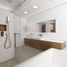 Luxusní koupelna BEIGE DELUXE - Pohled z vany na umyvadlo - denní