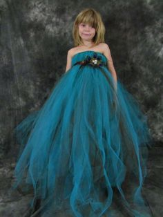 Peacock Tulle Girls dress by TheCreatorsTouch on Etsy, $50.00