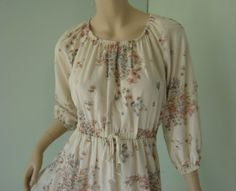 Butterfly Peasant Dress Soft Pink Taupe Off by ReluctantDamsel, $39.00