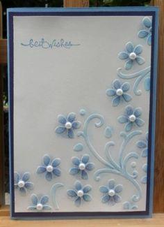 Elegant Bouquet Simple Card by Joan A. Walker Cox