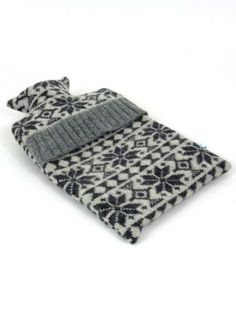 Catheine Tough knitted wool hot water bottle cover / The Collection