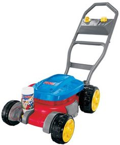 """Fisher-Price Bubble mower """"mows"""" the lawn while creating tons of bubbly fun."""