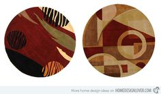 15 Geometrical and Artisitc Modern Round Area Rugs | Home Design Lover