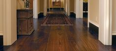 I love these wideplank walnut floors!