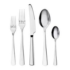 SEDLIG 20-piece flatware set - IKEA (so tired of replacing flatware, maybe this will stick around...if not, not such a big loss!)