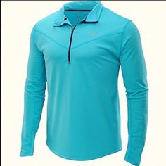 963487f6 Nike Dri Fit Element Thermal Men's Running 1/2 Zip Top 610677-404 Small |  eBay