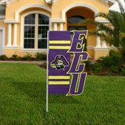 East Carolina Pirates 18'' x 10.5'' Purple Cut-Out Applique Garden Flag- another great garden flag