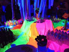 Image result for neon colored candy buffet