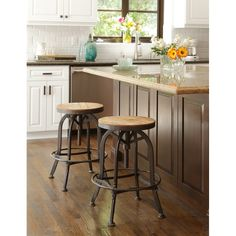 Shop for Carbon Loft Horseshoe Reclaimed Wood and Iron Bar and Counter Stools Counter Height - x x - (As Is Item). Get free delivery On EVERYTHING* Overstock - Your Online As Is Store! Get in rewards with Club O! Rustic Bar Stools, 24 Bar Stools, Metal Bar Stools, Counter Height Stools, Kitchen Stools, Swivel Bar Stools, Kitchen Island, Bar Chairs, Table Stools