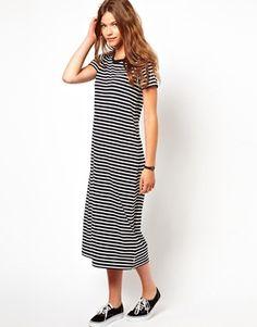 Image 4 of White Chocoolate Stripe T-Shirt Dress