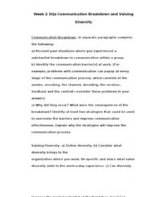 MGT415  MGT 415  Week 2 DQs Communication Breakdown and Valuing Diversity --> http://www.scribd.com/doc/133902468/MGT415-MGT-415-Week-2-DQs-Communication-Breakdown-and-Valuing-Diversity
