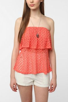 Pins and Needles Textured Strapless Top  #UrbanOutfitters