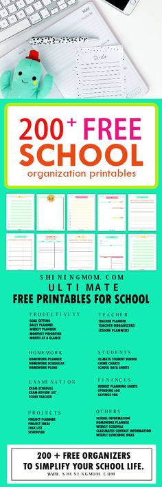 Ever since I became a teacher, I've been creating student organization printables. I've been creating checklists, lesson organizers, KWL charts, planners and more. Creating graphic orga…