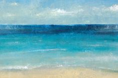 Gorgeous Blue Ocean Print on Wrapped Canvas: http://www.completely-coastal.com/2016/04/ocean-art-paintings-photos-focal-point-decor-ideas.html
