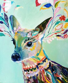 beautiful rainbow-colored deer# My obsession#2 + color scheme choice# 14
