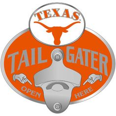 Texas Longhorns Tailgater Hitch Cover #TexasLonghorns